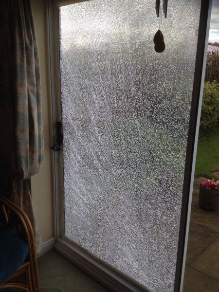 This is what happens if you drill in the wrong place when trying to fit extra security locks to your patio door: Swipe To View More Images