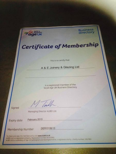 Another year as a contractor on the age uk directoryhttp://ae-joineryglazing.co.uk: Swipe To View More Images
