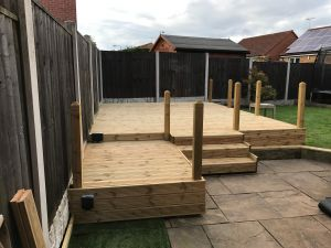 Domestic Garden Decking