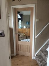 Oak Glass Door Fitting