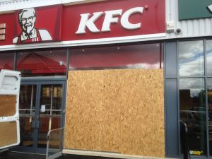 Commercial KFC glazing repair Nottingham