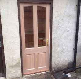 New door that we fitted after a police raid: Click Here To View Larger Image