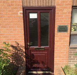Upvc  door fitted for a commercial customer: Click Here To View Larger Image