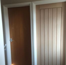 Lovely new oak doors fitted today, what a difference: Click Here To View Larger Image